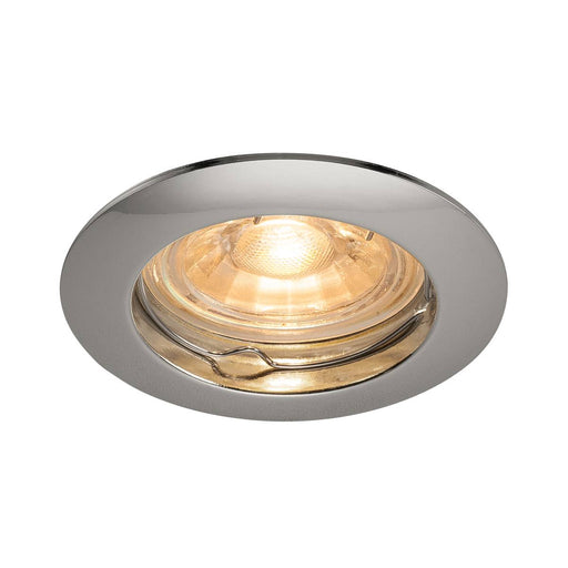 SLV SLV 1000715 PIKA GU10, Recessed ceiling luminaire, non-adjustable, chrome, max. 50W 4024163190077 1000715