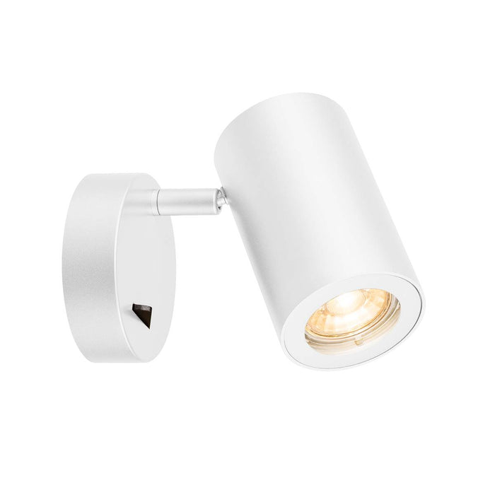 ENOLA_B Wall luminaire, QPAR51, with switch, white, max. 50W