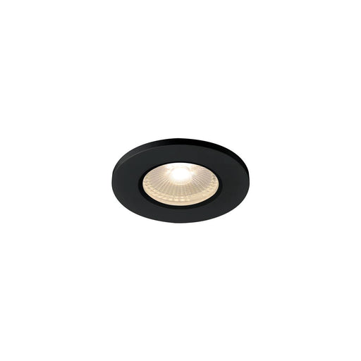 SLV SLV 1001015 KAMUELA ECO LED Fire-rated Recessed ceiling luminaire, black, 3000K, 38°, dimmable, IP65 4024163194624 1001015