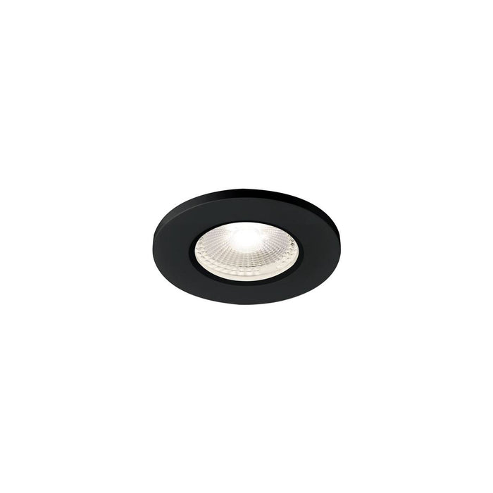 KAMUELA ECO LED Fire-rated Recessed ceiling luminaire, black, 4000K, 38°, dimmable, IP65