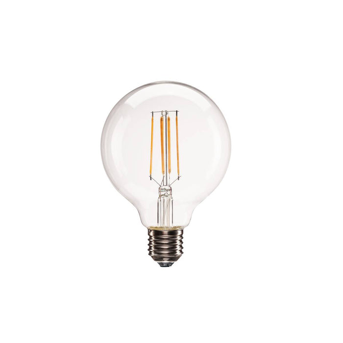 E27 LED G95 lamp, 330°, 2700K, 806lm, dimmable