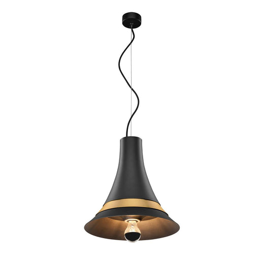 SLV SLV 1001266 BATO 35 PD, Indoor pendant light, black/brass, E27, max. 60W 4024163195706 1001266
