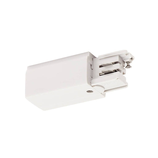 SLV SLV 1001379 Feed-in for S-TRACK 3-Circuit surface-mounted track, earth electrode left, traffic white 4024163196734 1001379