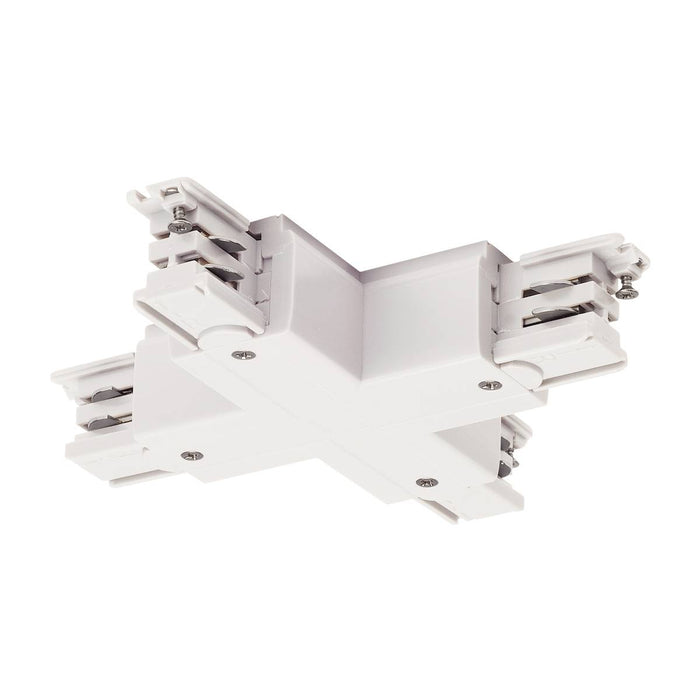 X-connector for S-TRACK 3-circuit track, traffic white