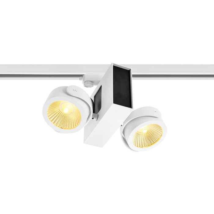 TEC KALU double white/black 60° 3000K, incl. 3-circuit adapter