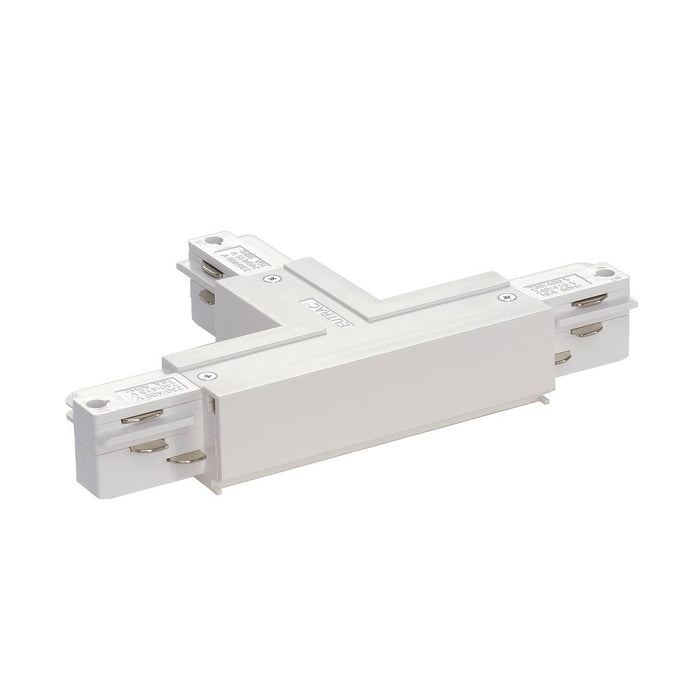 EUTRAC T-connector earth right, traffic white