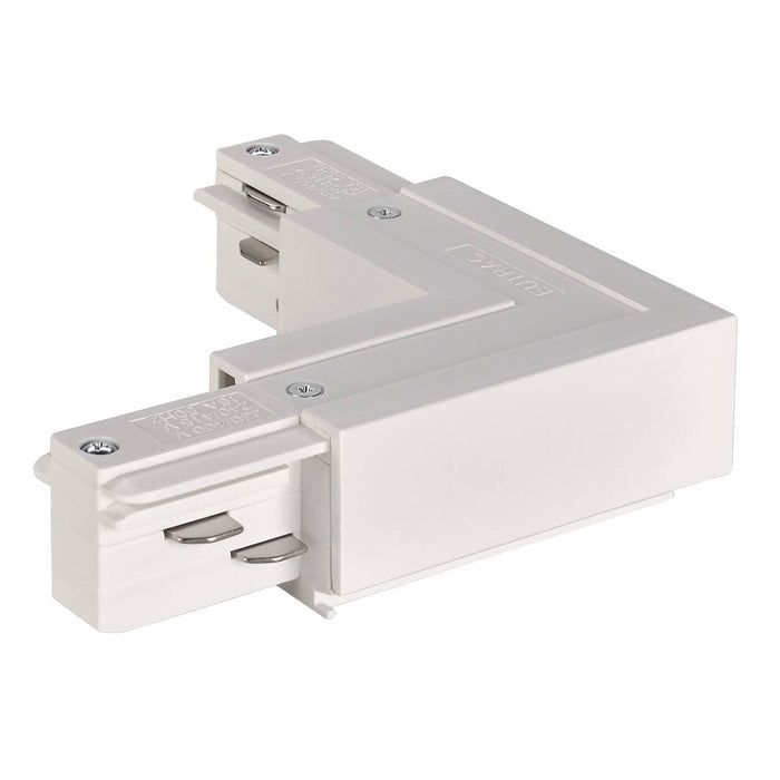 EUTRAC L-connector inner earth, traffic white