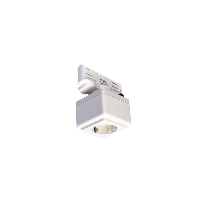EUTRAC power socket adapter, traffic white