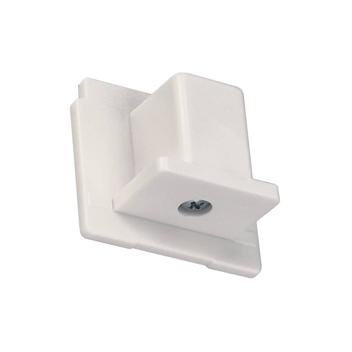 EUTRAC end cap for 3-circuit track, traffic white