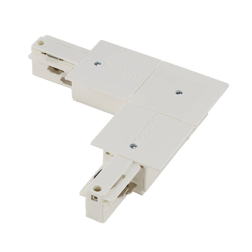 SLV SLV 1001537 EUTRAC L-connector for 3-Circuit recessed track, traffic white, earth inside 4024163200219 1001537
