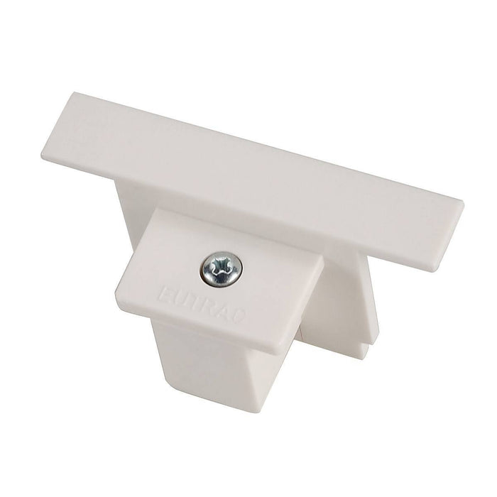 EUTRAC end cap for 3-circuit recessed track, traffic white