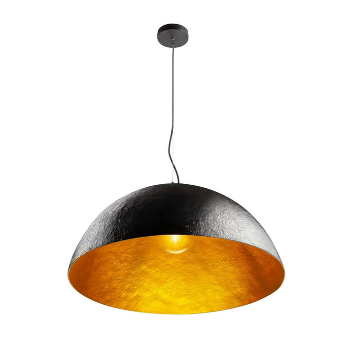 SLV SLV 1001701 FORCHINI 70 PD, Indoor pendant, black/gold, E27, max. 40W 4024163201674 1001701