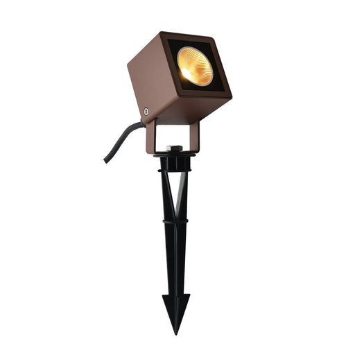 NAUTILUS 10 Spike, LED outdoor ground spike luminaire, rust coloured IP65, 3000K, 45°