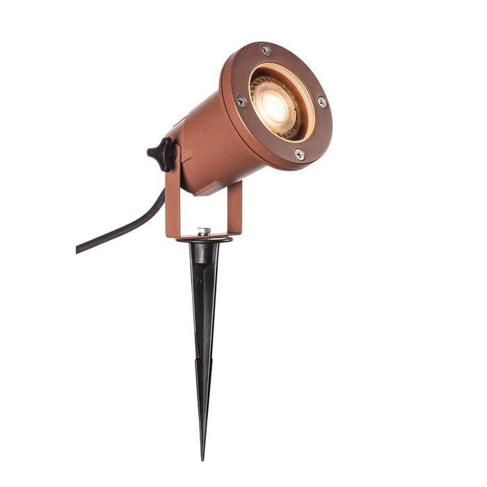 BIG NAUTILUS QPAR51, Outdoor ground spike luminaire, rust coloured IP65 max. 11W