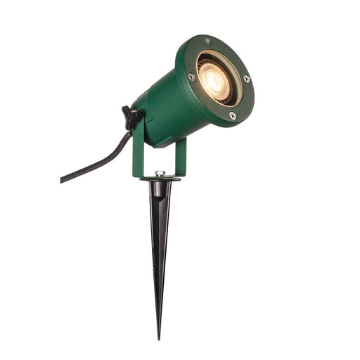 SLV SLV 1001965 BIG NAUTILUS GU10, outdoor ground spike luminaire, green IP65 max. 11W 4024163221962 1001965