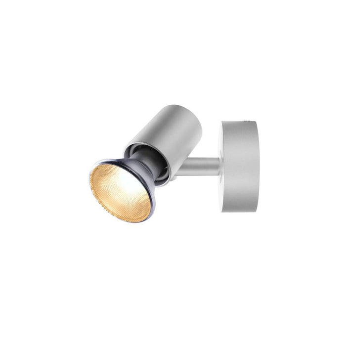 SPOT E27, CW, Indoor surface-mounted wall and ceiling light, silver-grey, max. 75W