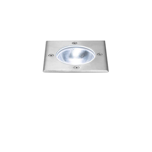 ROCCI Square, outdoor LED inground fitting, stainless steel 316, 4000K, IP67, 8.6W