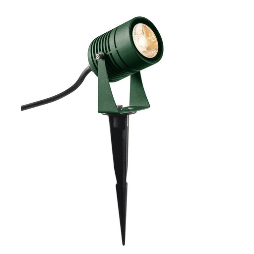SLV SLV 1002202 LED SPIKE, LED outdoor ground spike luminaire, green, IP55, 3000K, 40° 4024163223836 1002202