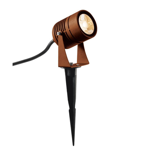 LED SPIKE, LED outdoor ground spike luminaire, rust coloured, IP55, 3000K, 40°