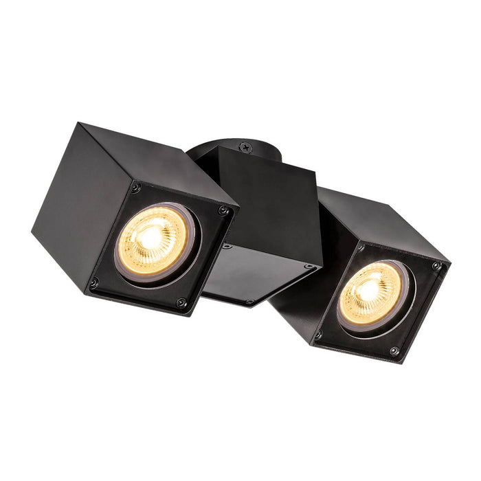 SLV SLV 1002215 ALTRA DICE CL, Indoor surface-mounted wall and ceiling light, double, GU10, black 4024163223966 1002215