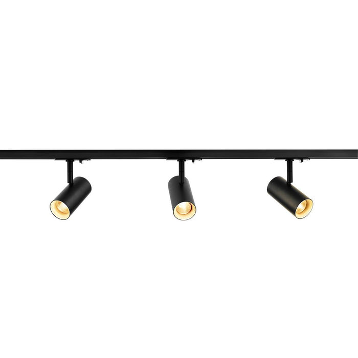 SLV SLV 1002610 1-Circuit Track Light System NOBLO SPOT SET 2700K black, including three spotlights, two 1m racks, one feed-in and one long connector 4024163228336 1002610