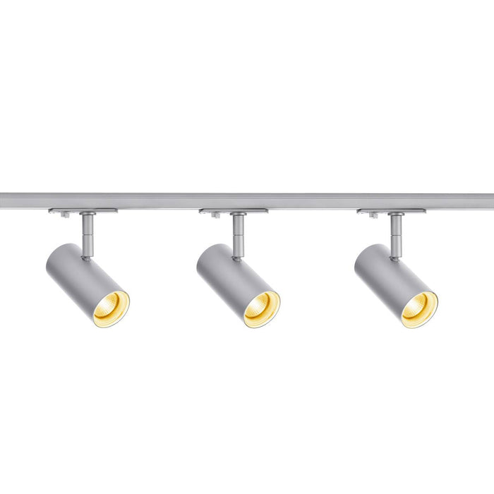 1 Circuit Track Light System NOBLO SPOT SET 2700K grey, including three spotlights, two 1m racks, one feed-in and one long connector