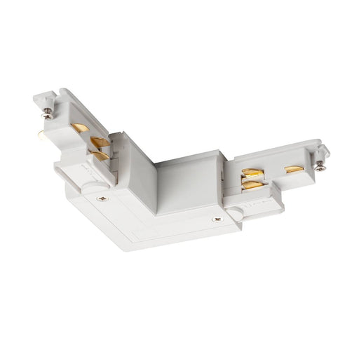 SLV SLV 1002650 S-TRACK DALI L-connector with external earth electrode, white 4024163228664 1002650