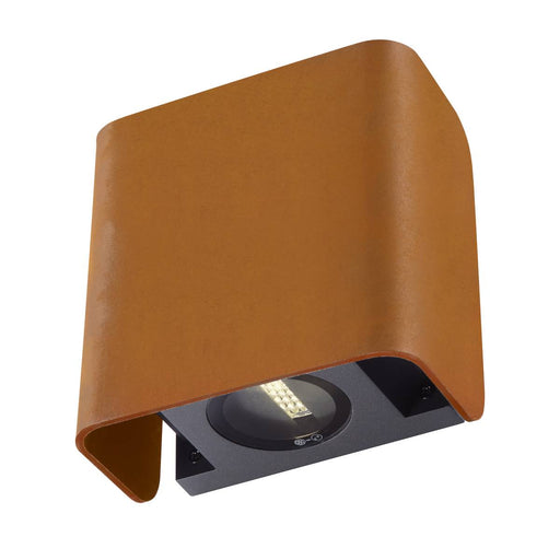 MANA OUT Outdoor recessed wall light rust 3000K IP65 dimmable