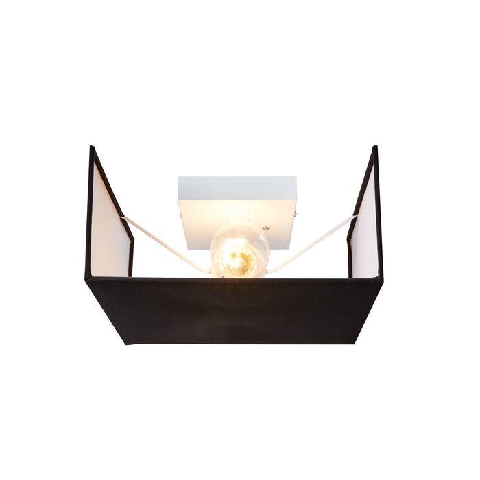SLV 1002942 ACCANTO SQUARE E27 Indoor surface-mounted wall light black