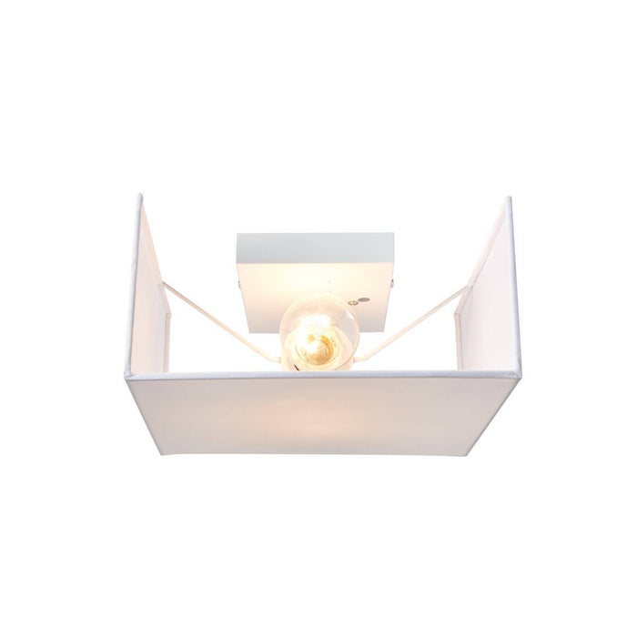 SLV 1002943 ACCANTO SQUARE E27 Indoor surface-mounted wall light white