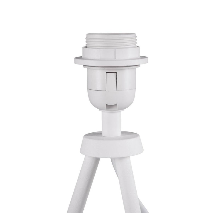 SLV 1003032 FENDA table lamp base II E27 Indoor table lamp in white without shade
