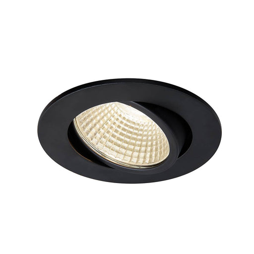 SLV SLV 1003057 NEW TRIA 68 I CS Indoor LED recessed ceiling light black round 3000K 38° incl. driver clip springs 4024163232463 1003057