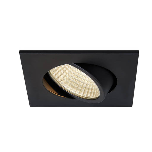 SLV SLV 1003061 NEW TRIA 68 I CS Indoor LED recessed ceiling light black square 3000K 38° incl. driver clip springs 4024163232500 1003061