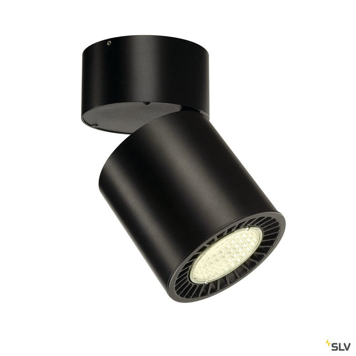 SUPROS MOVE CL Indoor LED ceiling mounted light, round, black, 4000K, 60° reflector, CRI90, 3520lm