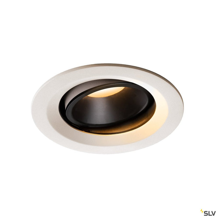 NUMINOS DL M, Indoor LED recessed ceiling light white/black 2700K 40° gimballed, rotating and pivoting