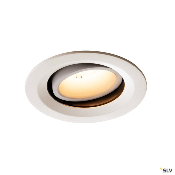 NUMINOS DL M, Indoor LED recessed ceiling light white/white 3000K 20° gimballed, rotating and pivoting