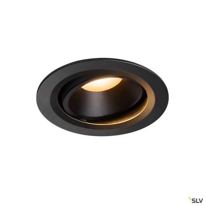 Numinos Dl L, Indoor Led Recessed Ceiling Light Black/black 2700k 40° Gimballed, Rotating And Pivoting
