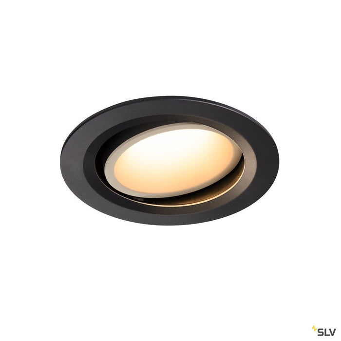 Numinos Dl L, Indoor Led Recessed Ceiling Light Black/white 3000k 40° Gimballed, Rotating And Pivoting