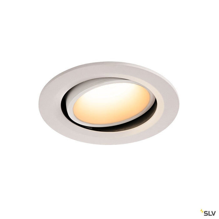 NUMINOS DL L, Indoor LED recessed ceiling light white/white 3000K 40° gimballed, rotating and pivoting