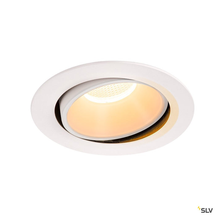 Numinos Dl Xl, Indoor Led Recessed Ceiling Light White/white 2700k 40° Gimballed, Rotating And Pivoting