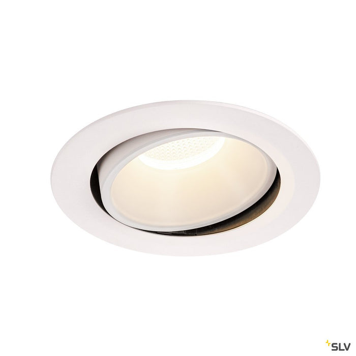 Numinos Dl Xl, Indoor Led Recessed Ceiling Light White/white 4000k 55° Gimballed, Rotating And Pivoting