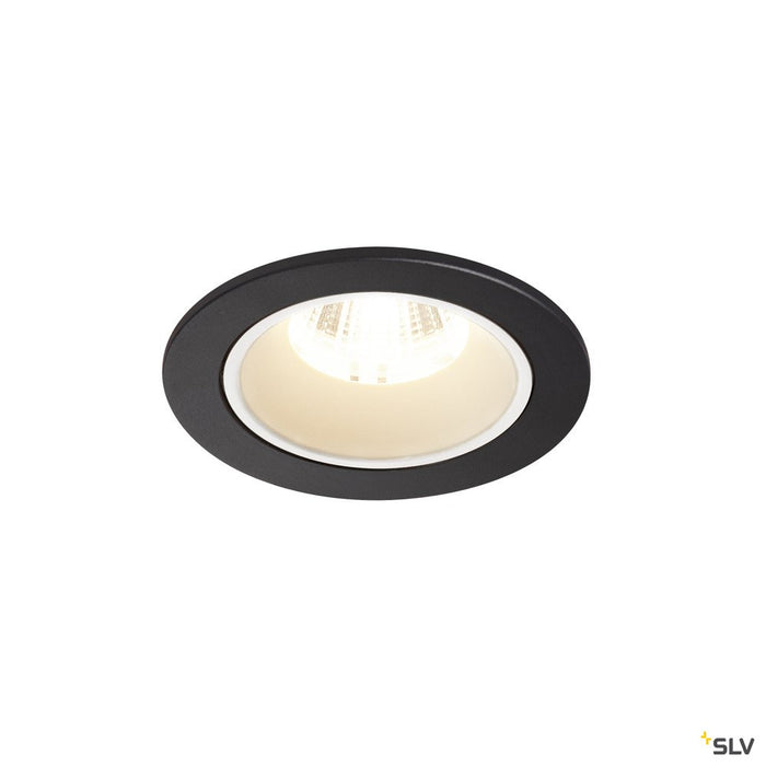 NUMINOS DL S, Indoor LED recessed ceiling light black/white 4000K 40°