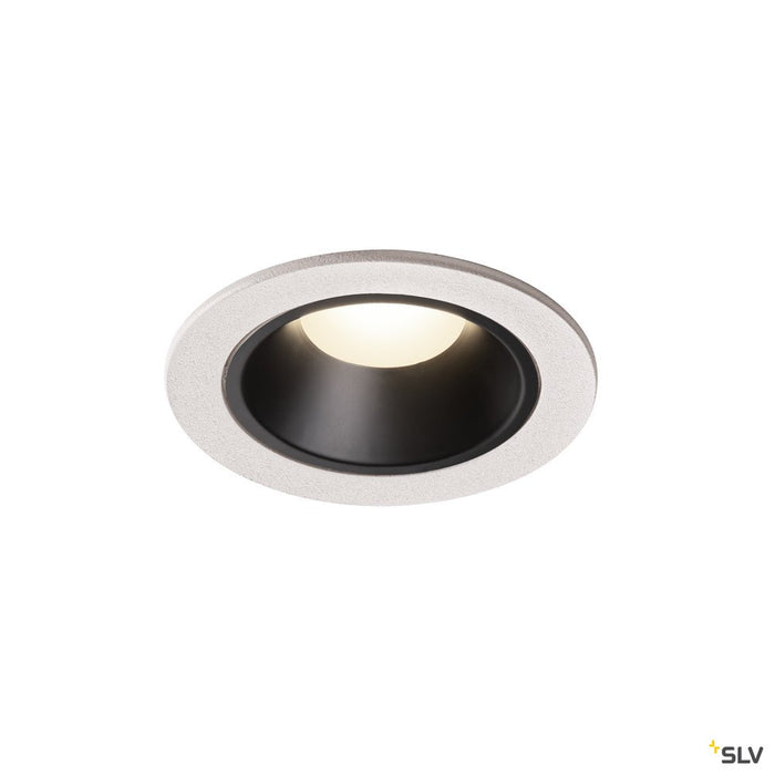 NUMINOS DL S, Indoor LED recessed ceiling light white/black 4000K 40°