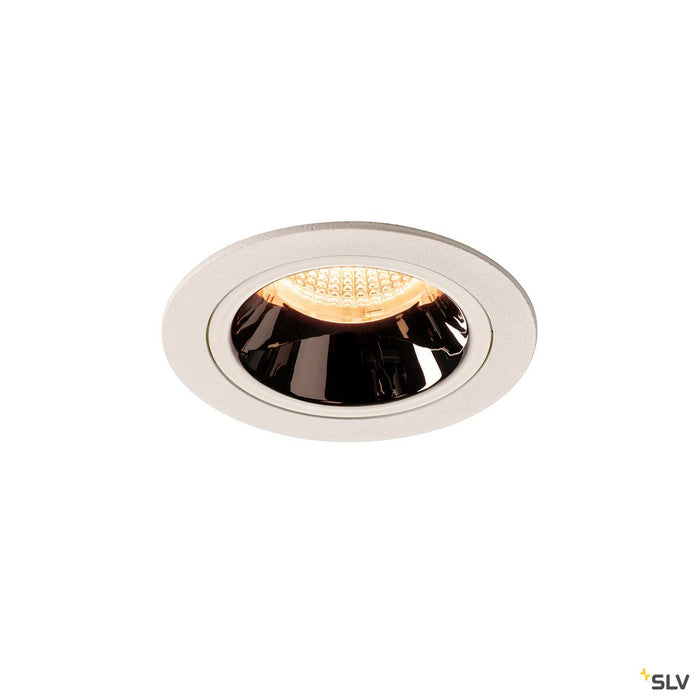Numinos Dl M, Indoor Led Recessed Ceiling Light White/chrome 2700k 40°