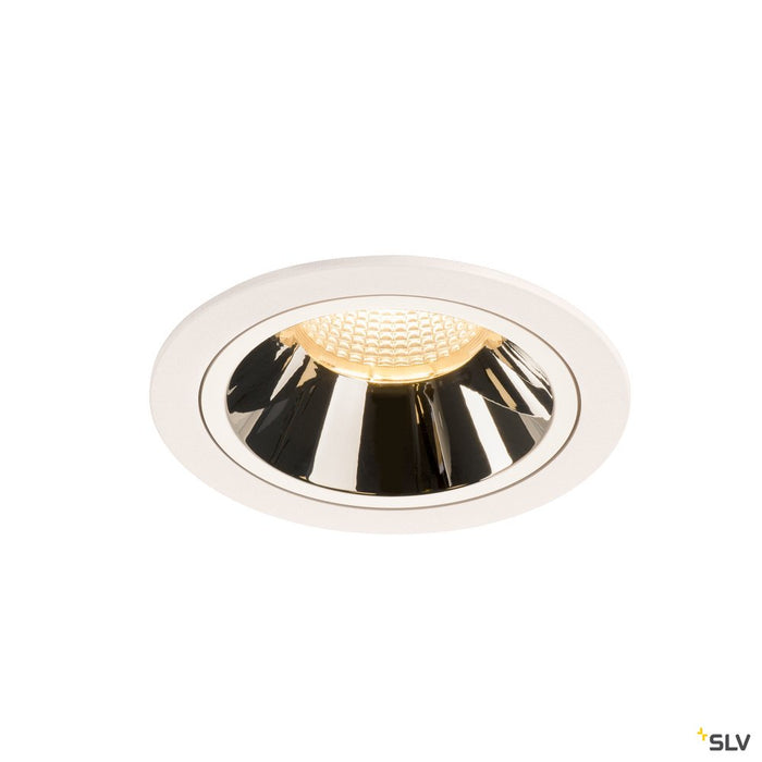 NUMINOS DL L, Indoor LED recessed ceiling light white/chrome 3000K 40°
