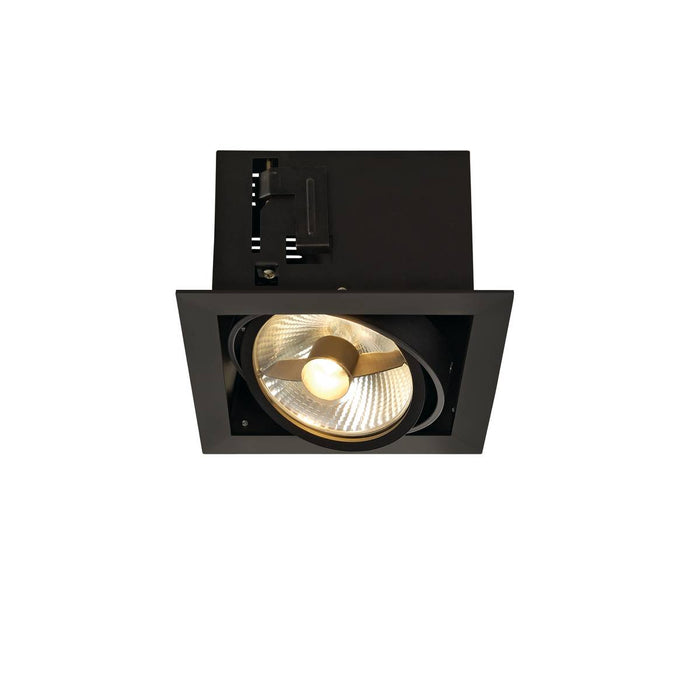 SLV SLV 115540 KADUX 1 ES111 downlight, square , matt black, max. 50W 4024163151535 115540