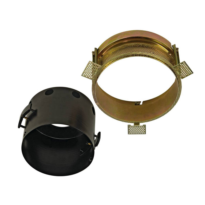 SLV SLV 115624 AIXLIGHT PRO FLAT FRAMELESS 1 ROUND installation housing, incl. fixing kit, black 4024163125215 115624
