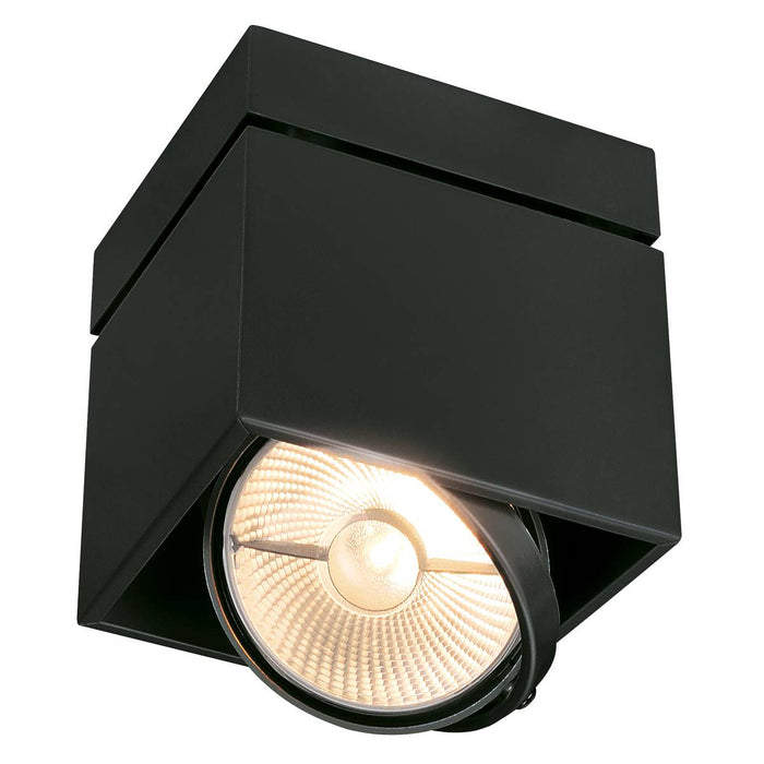 SLV SLV 117100 KARDAMOD SURFACE SQUARE ES111 SINGLE ceiling light, square, black, GU10, max. 75W 4024163149754 117100