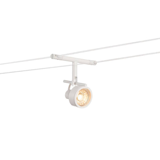 SALUNA, cable luminaire for TENSEO low-voltage cable system, QR-C51, white