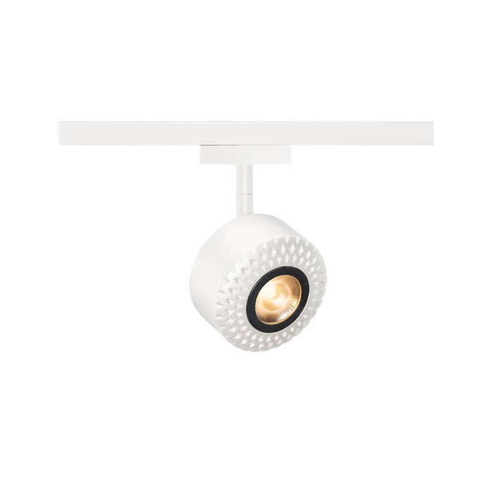 TOTHEE LED, spot for 2-circuit 240V track, 3000K, white, 50°, incl. 2-circuit adapter